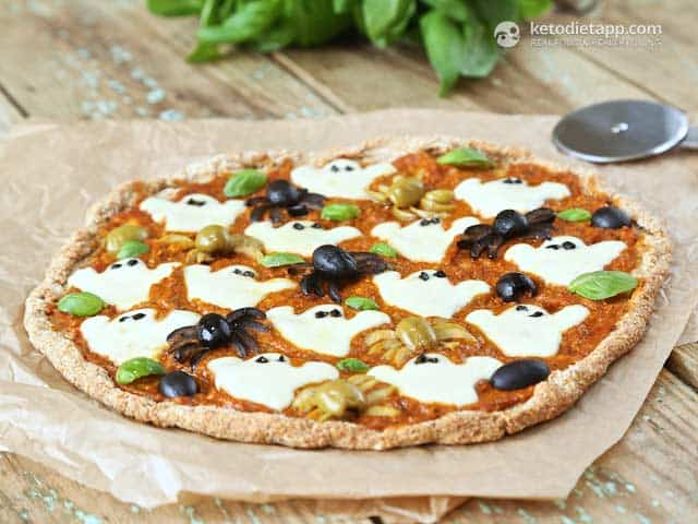 Spooky Halloween Low-Carb Pizza