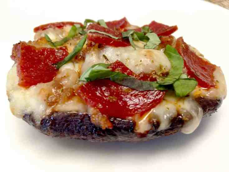 Portobello Mushroom Mini Pizza - Keto and Low Carb