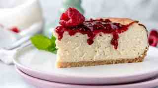 Low Carb Cheesecake with Raspberry Jam {Gluten-Free, Keto, Low-Carb}