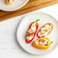 Low Carb Bacon Ranch Bell Pepper Poppers
