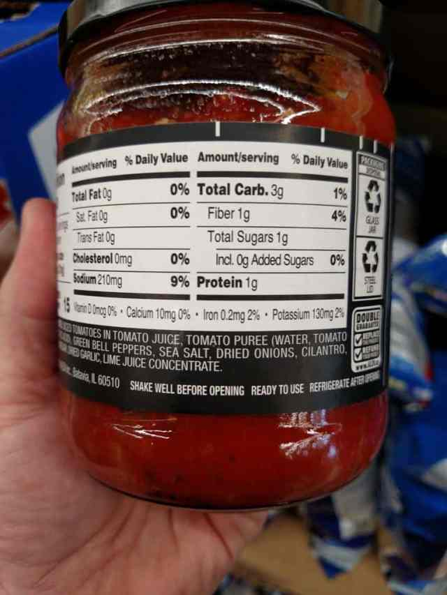 Specially Selected Specialty Salsa label