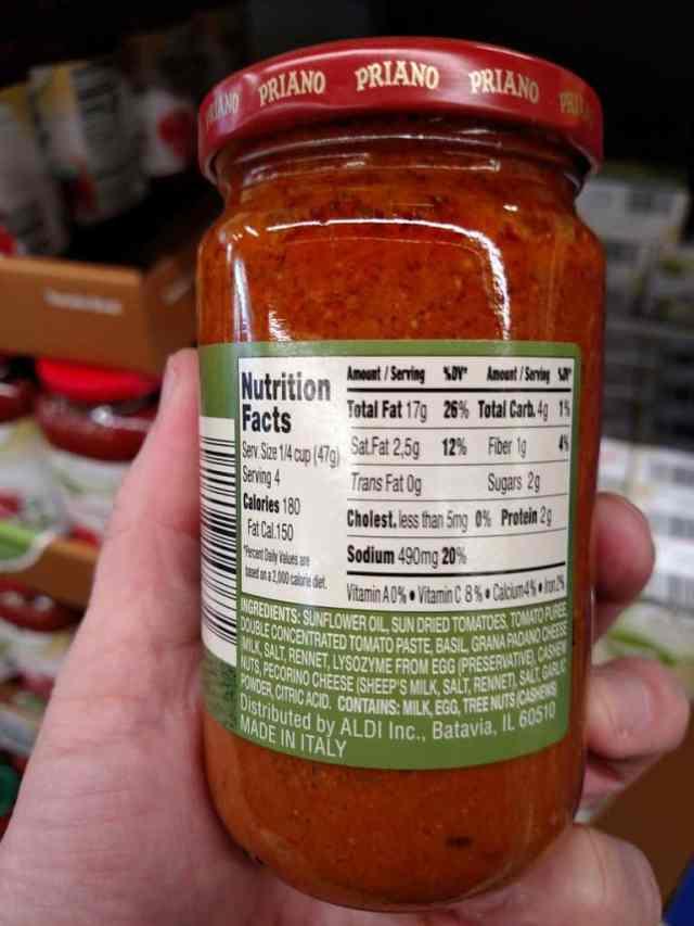 Priano Genovese Pesto Sauce label