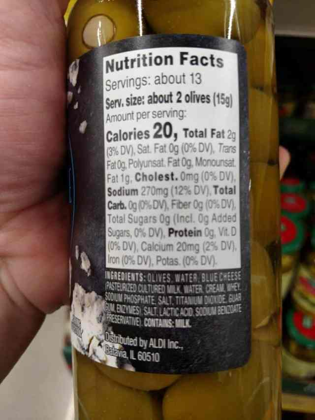 Stuffed Queen Olives label