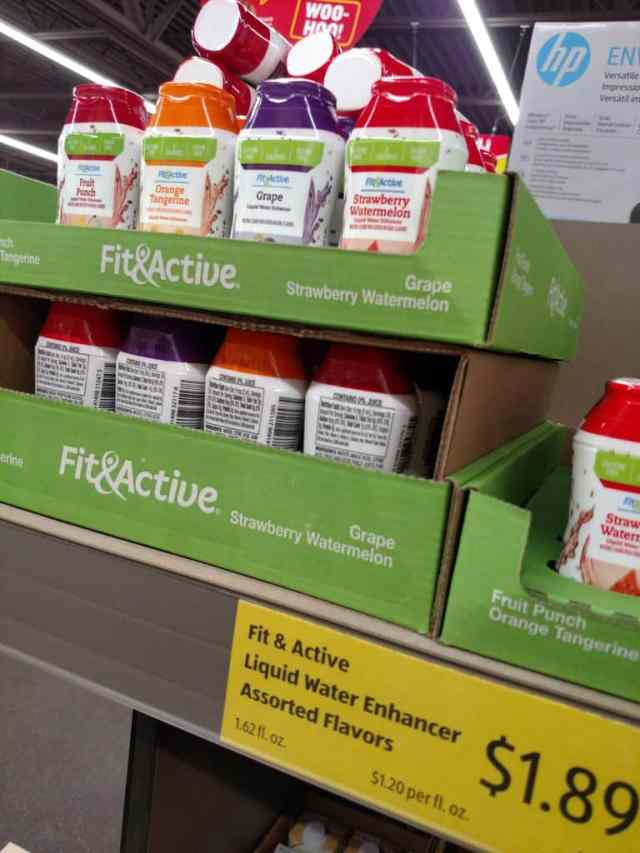Fit & Active Liquid Water Enhancers in store