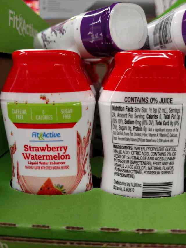 Fit & Active Liquid Water Enhancers strawberry watermelon label