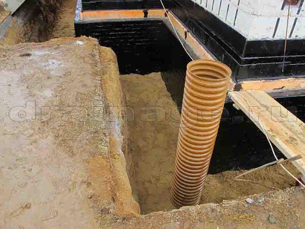 Глубинный дренаж вокруг дома: как правильно отвести воду?