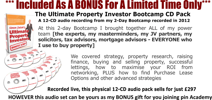 PIN Academy Bonus Pack - The Ultimate Property Investor Bootcamp CD Pack