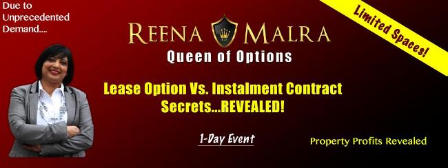 Reena Malra - Lease Options Vs Installment Contracts 1 Day Event