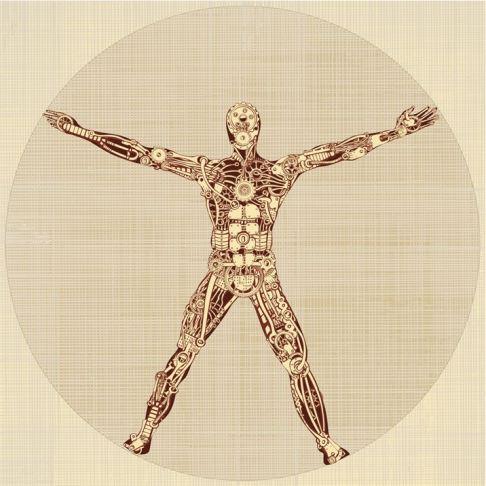 The Vitruvian Man. Remake of Leonardo da Vinci's drawing. v1.0