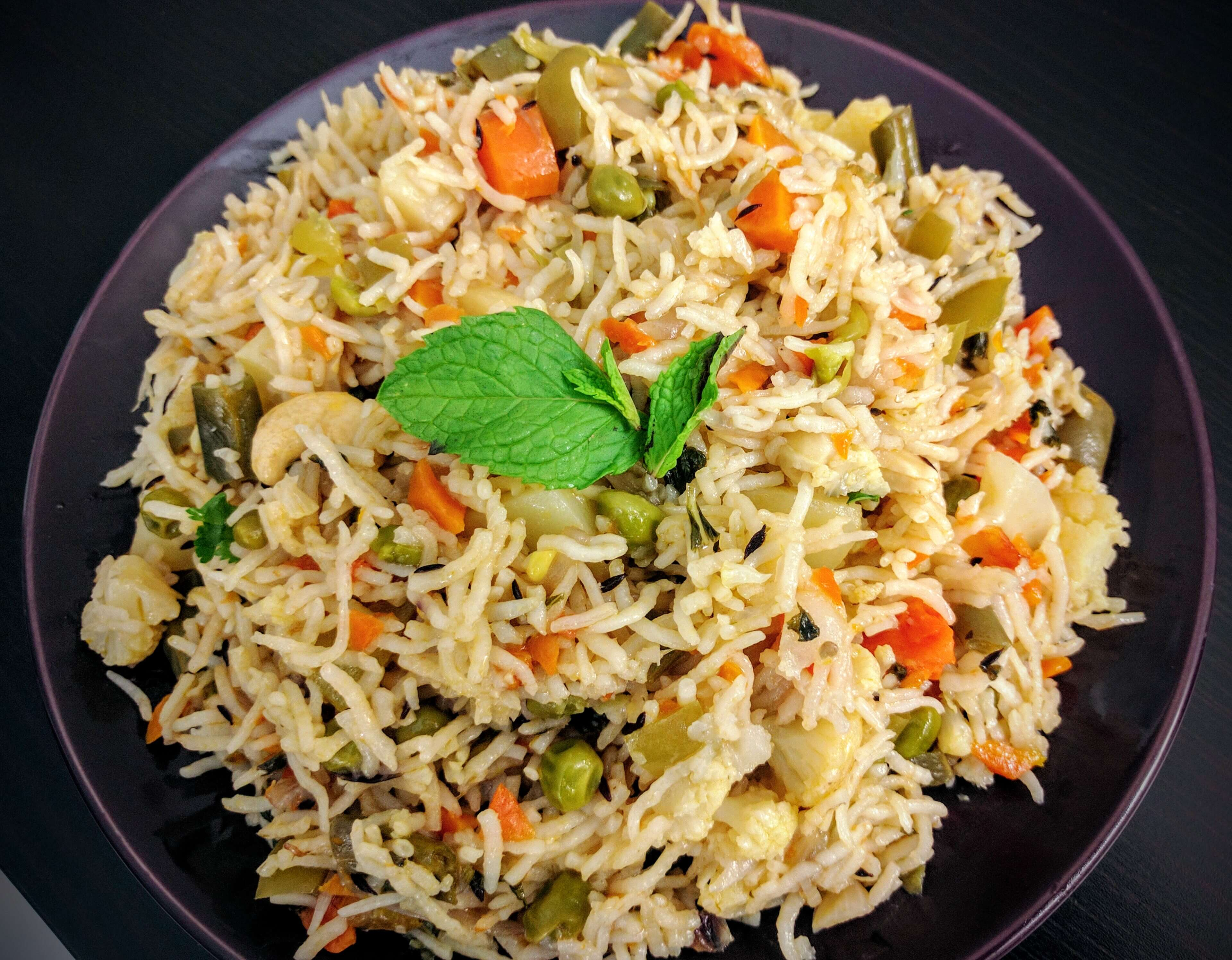 Veg pulao recipe vegetable pilaf vegecravings ccuart Images