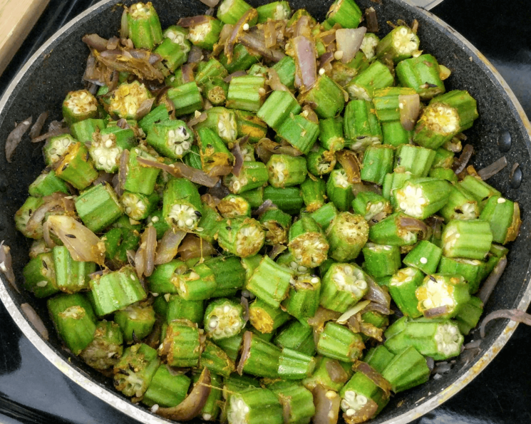 Bhindi Do Pyaza Recipe Step By Step Instructions 7