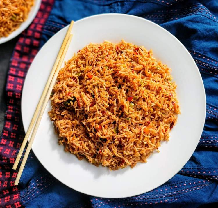 Veg Schezwan Fried Rice Recipe Step By Step Instructions