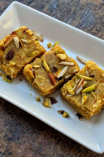 Besan Mawa Barfi Recipe Step By Step Instructions