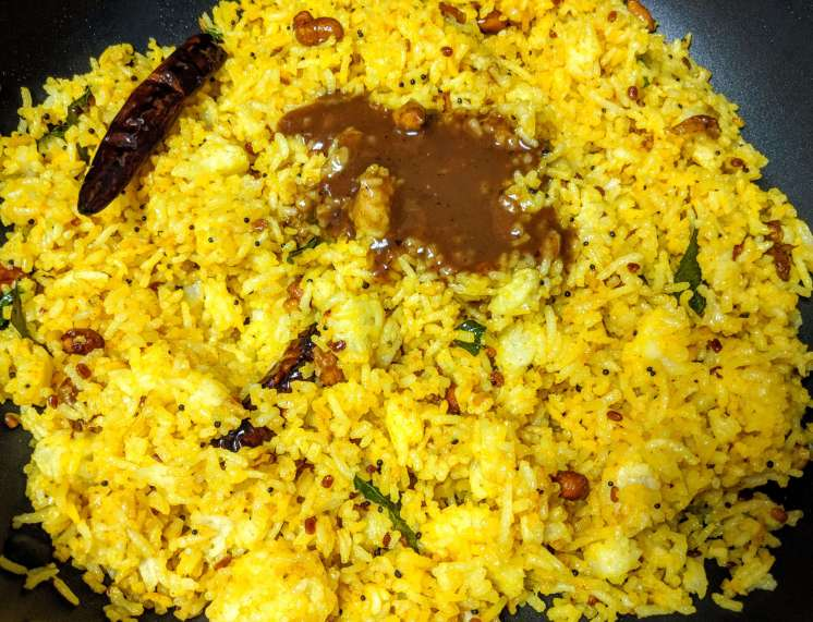 Pulihora | Tamarind Rice Recipe Step By Step Instructions 6