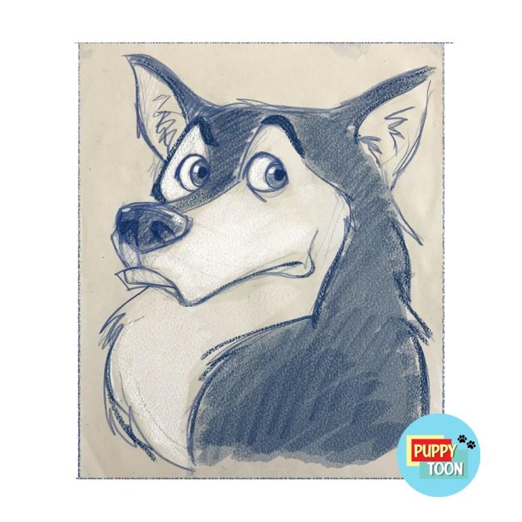 caricatura cane animali cartone animato cartoon idea regalo disegno stampa o dipinta acrilico su tela