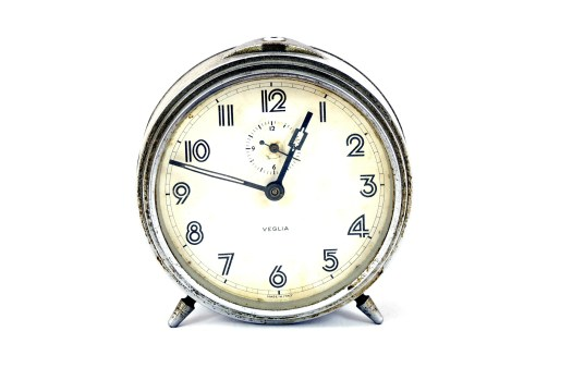 A table clock depicting our routine daily  work schedule
