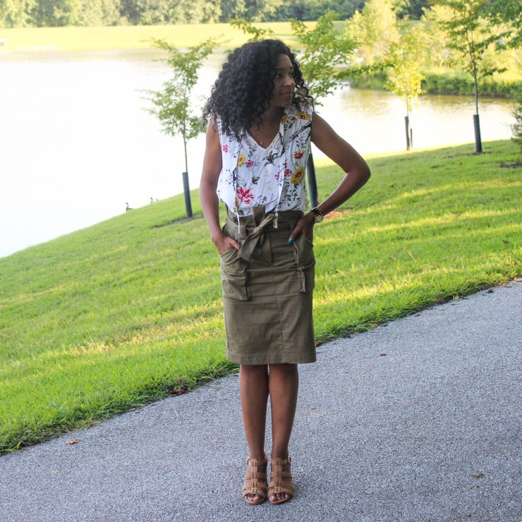 Old Navy Top with Utility Skirt-2104