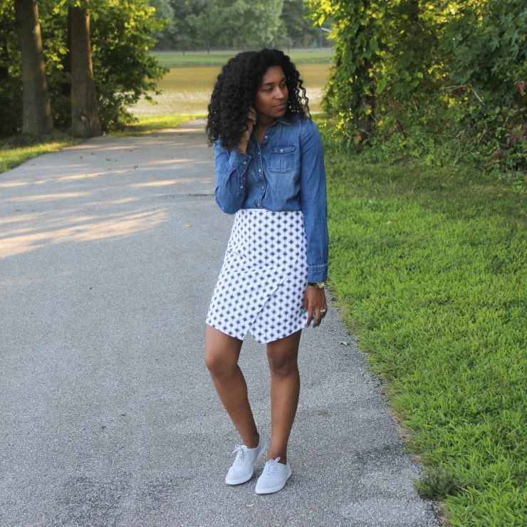 Denim Shirt Loft Skirt (3 of 6)