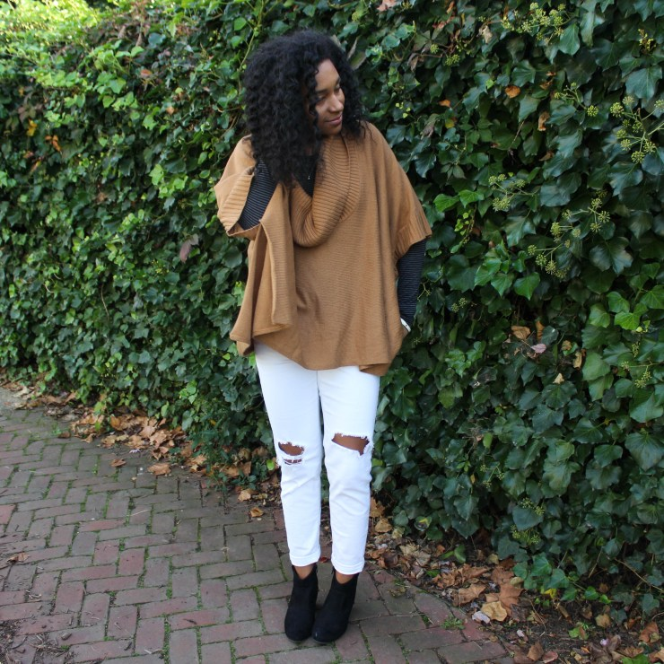 White Pants with Tan Cape-4022
