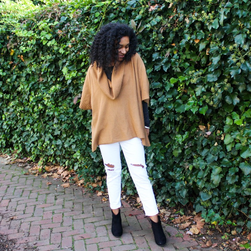 White Pants with Tan Cape-4103