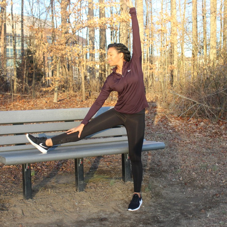 Maroon Nike Workout Outfit-9243