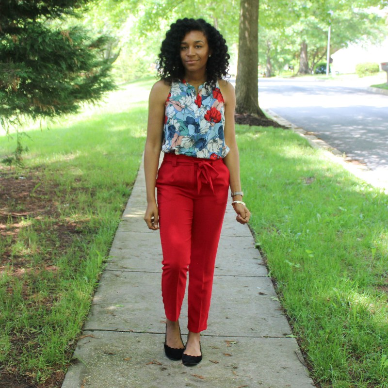 Red & Blue Shirt with Red Express Pants-9442