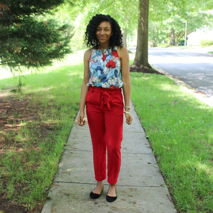 Red & Blue Shirt with Red Express Pants-9444