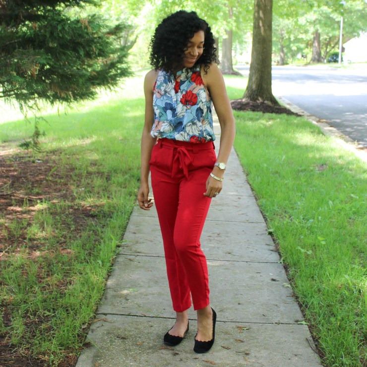 Red & Blue Shirt with Red Express Pants-9449