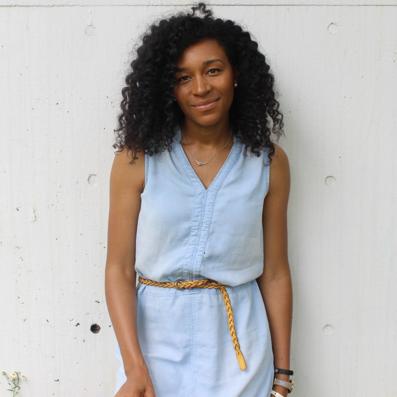 Thrifted Chambray Shirt Dress-0582