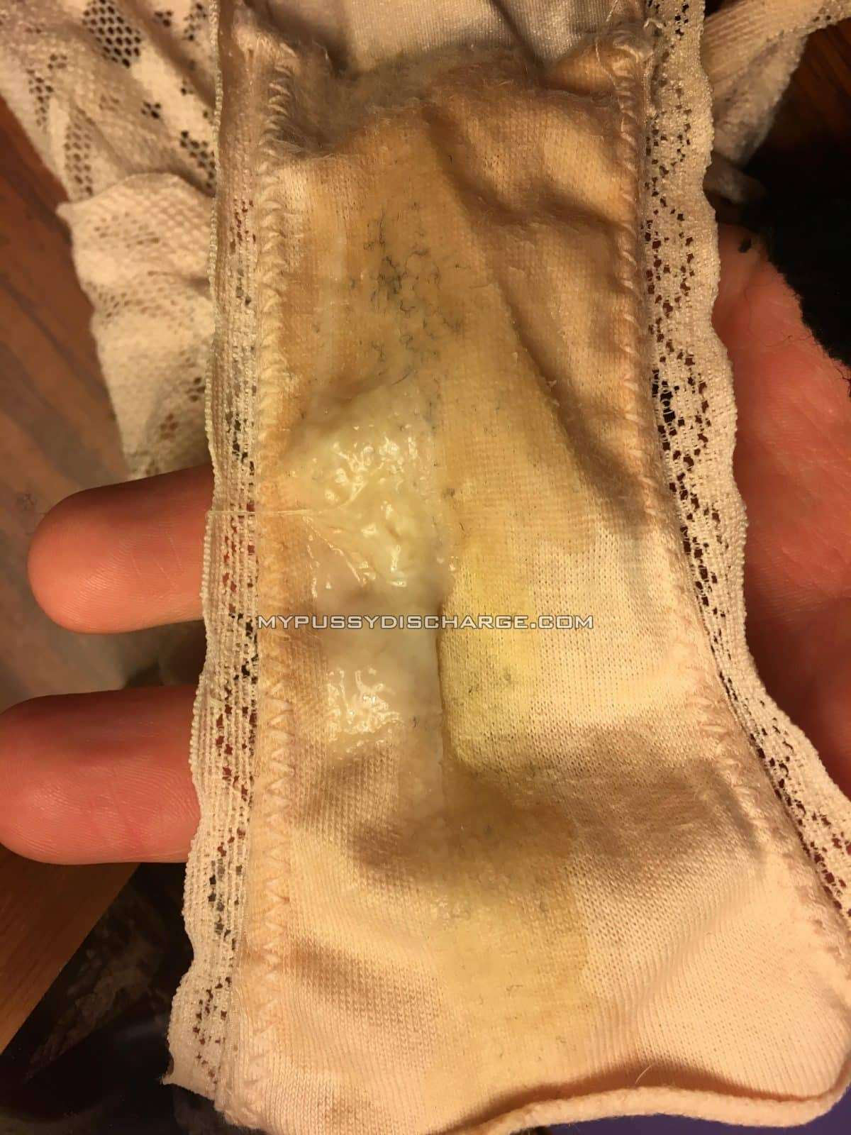 Dirty panties worn 4 days with pussy discharge on them