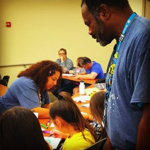 Aida and William teaching KidsCamp Orlando
