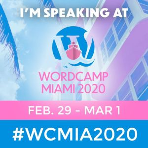 Speaker at WordCamp Miami