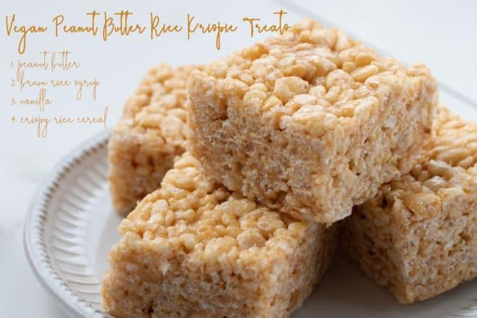 Vegan Peanut Butter Rice Krispie Treats