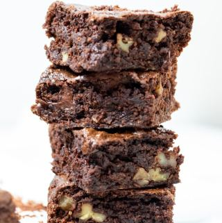 A stack of Peanut Butter Brownies