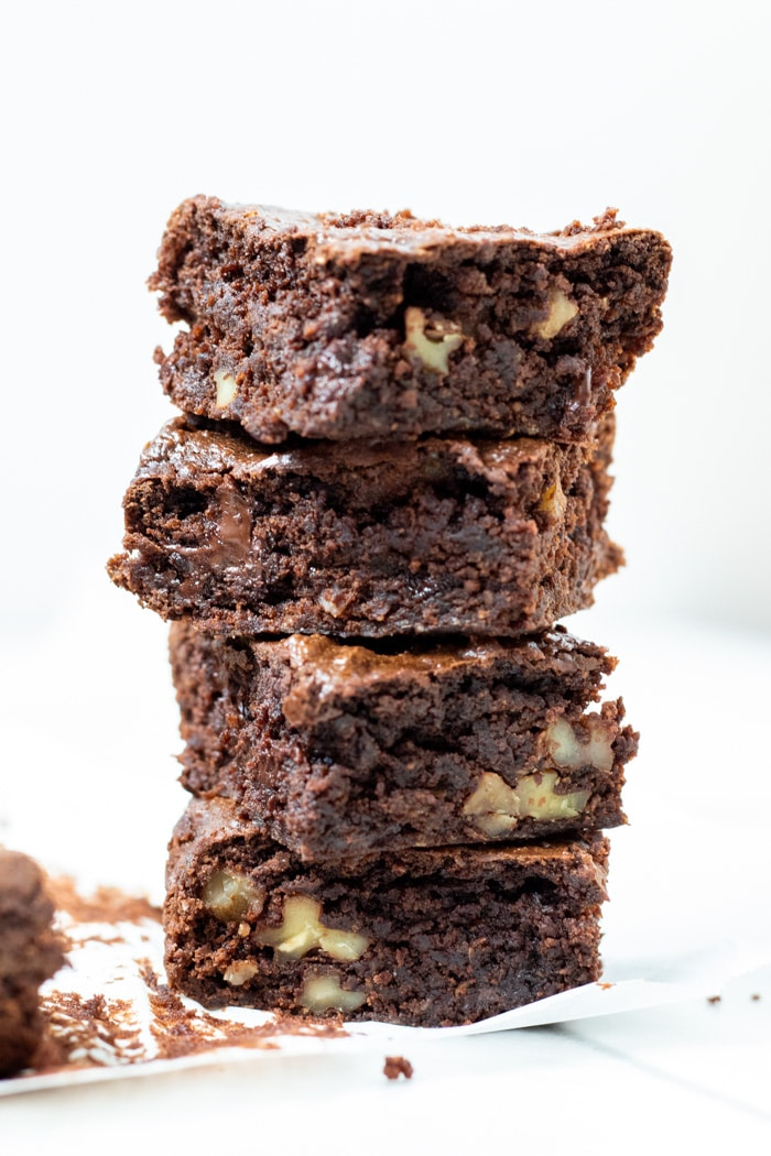 Four Peanut Butter Brownies stacked