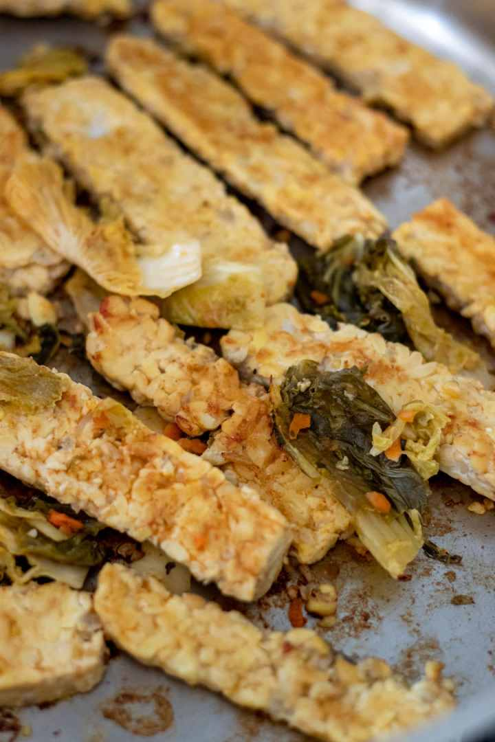Kimchi Marinated Tempeh Wraps-2