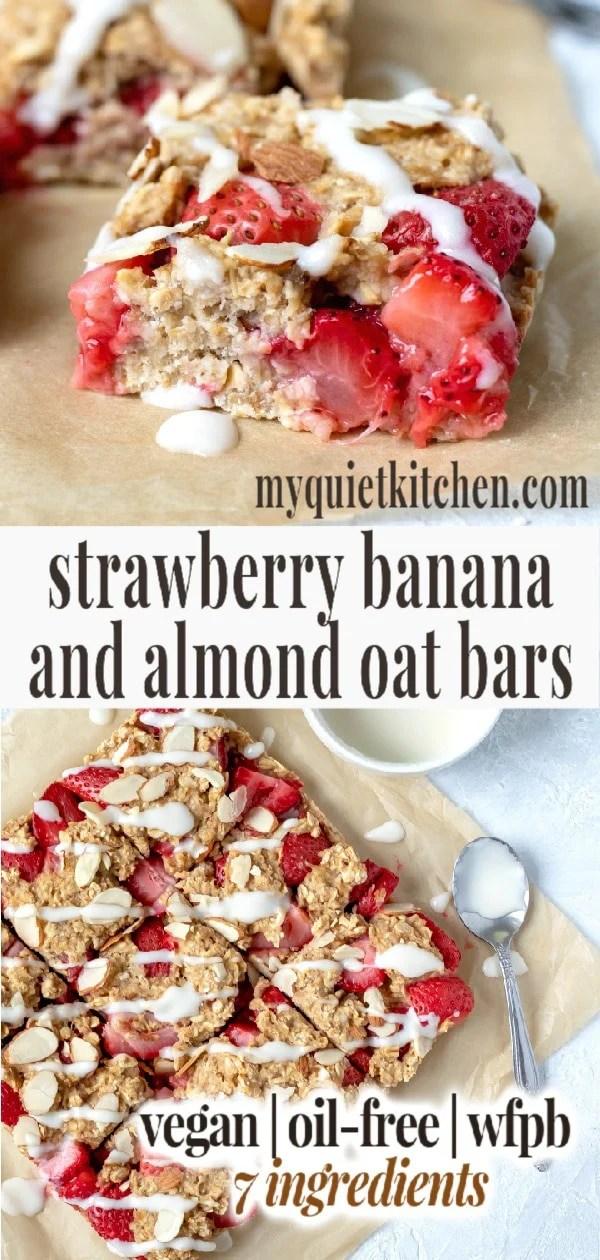 Strawberry Banana Breakfast Bars pin for Pinterest