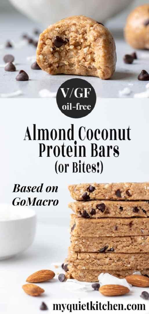 Vegan Protein Bar pin for Pinterest