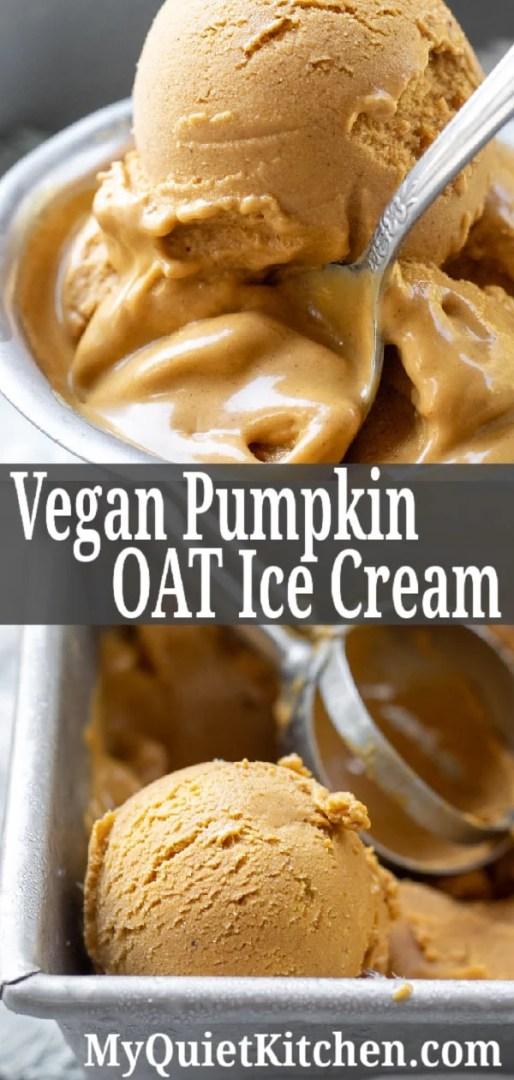 vegan pumpkin ice cream pin for Pinterest