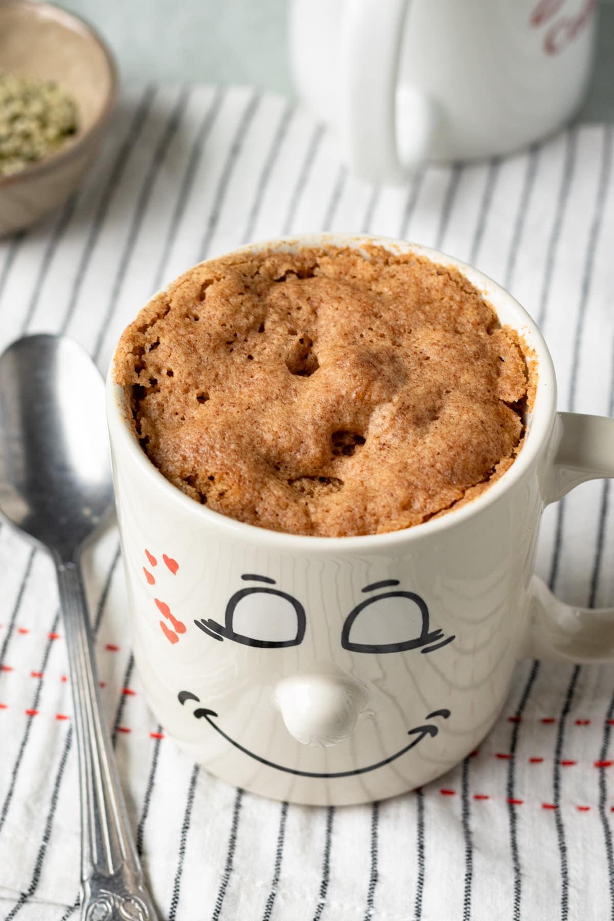 vegan breakfast mug muffin oil free