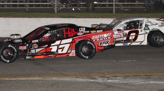 LATE RACE PASS EARNS SHAWN SOLOMITO RIVERHEAD RACEWAY NASCAR MODIFIED GRAND OPENING NIGHT VICTORY