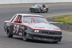 Jake Christian runs his mini stock during practice for the Bud Blast-off season opener at the New London-Waterford Speedbowl in Waterford, CT.