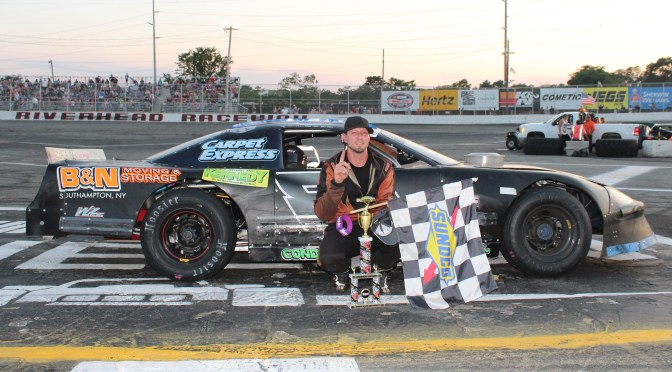 LAST LAP PASS EARNS CHRIS TURBUSH RIVERHEAD RACEWAY 50-LAP LATE MODEL VICTORY, MICHAEL RUTKOSKI SCORES FIRST CAREER CRATE MODIFIED VICTORY SATURDAY
