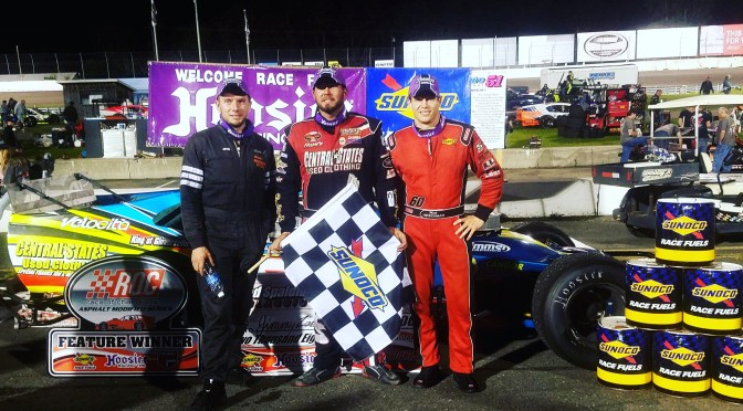 JIMMY ZACHARIAS CLAIMS FIRST RACE OF CHAMPIONS ASPHALT MODIFIED SERIES WIN