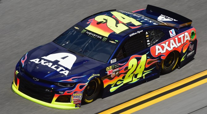 William Byron Leads The Pack Practice at Daytona in Final Practice before the 2018 Clash