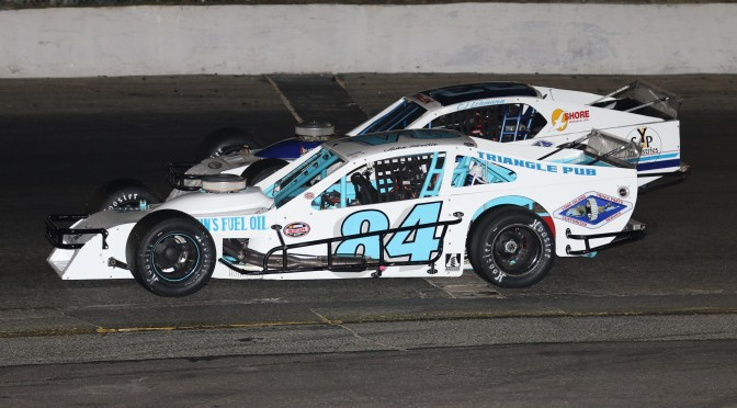 JOHN FORTIN SR. SURVIVES MULTIPLE RESTARTS TO SCORE WEDNESDAY NIGHT VICTORY AT RIVERHEAD RACEWAY
