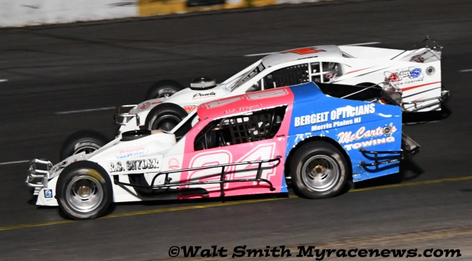 Don Wagner misses the mayhem en route to Modified victory