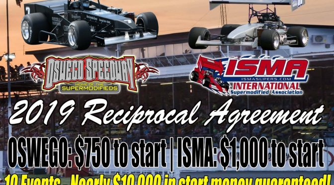 Oswego Speedway and ISMA Announce 2019 Reciprocal Agreement