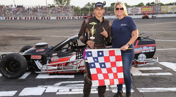 JUSTIN BROWN, TOM PICKERELL, RAY FITZGERALD & BRIAN BROWN VICTORIOUS IN RIVERHEAD RACEWAY BUZZ CHEW CHEVROLET-CADILLAC NIGHT FEATURES