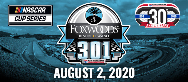 Foxwoods Resort Casino 301 NASCAR Cup Series Race Postponed to August 2